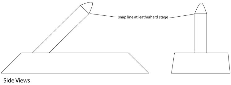 Snap off end when leatherhard