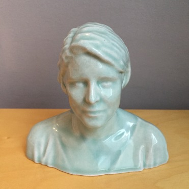 Head printed professionally in a machine that laser sinters the clay powder rather than coiling wet clay